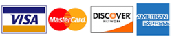 We gladly accept Visa, MasterCard, Discover & American Express
